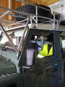 Dachträger mit Ersatzrad