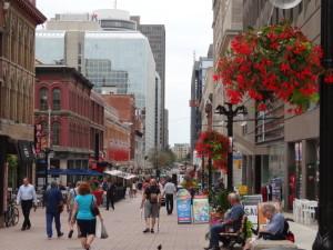 Einkaufsstrasse in Ottawa.