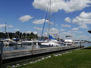Yachthafen von Devon port am lake erie.
