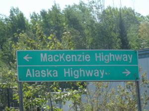 Wir fuhren auf dem Alaska Highway