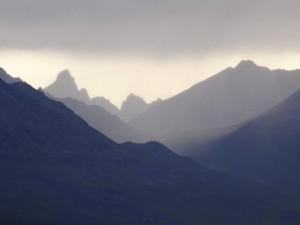 Wir genossen den einzigartigen Blick auf die Tombstone Mountains.