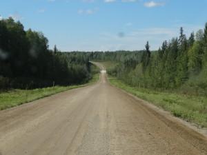 Vor uns liegen ca. 500 km nicht asphaltierte Strasse.
