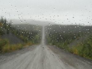 Bei Regen fuhren wir wieder 781 km zurück.