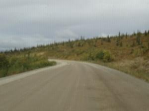 Auf dem Top of the World Highway(schon wieder Naturstrasse) ging es über die Grenze nach Alaska.