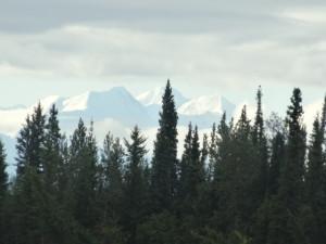 In der Ferne die Alaska Mountains