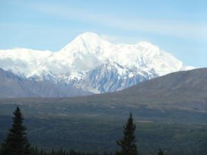Der Denali oder Mount Mc Kinley ist mit 6194 Metern der höchste Berg von Nordamerika.