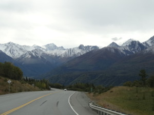 Von Anchorage fuhren wir auf dem Glennalen Highway Richtung Valdez.