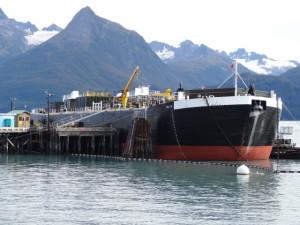 In Valdes wird Öl auf die Tanker verladen.