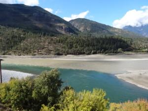 Zusammenfluss von Fraser -und Thompson River