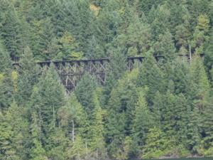 Eisenbahnbrücke aus Holz
