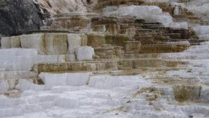 Kalterrassen an den Mammoth Hot Springs