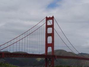 Bis wir endlich auf der Golden Gate Bridge standen.