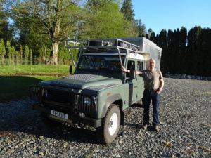 Der Land Rover hat den Winter gut überstanden, und wir sind startklar.