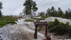 Im Bryce National Park schneite es.