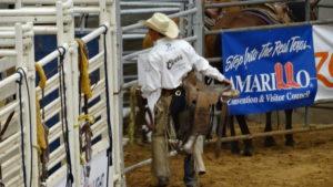 Ein Cowboy macht sich bereit für den grossen Auftritt.