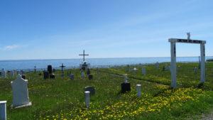 Die Friedhöfe sind aufs Meer ausgerichtet.