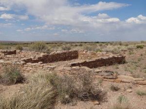 Überreste von einer vergangenen Indianersiedlungen