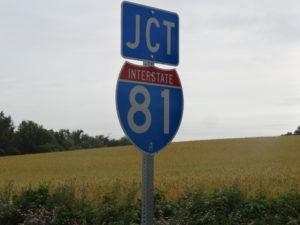 Auf dem Interstate 81 fuhren wir nach Norden.