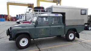 Wir liessen den Land Rover im Hafen von Halifax. Er hat uns auf unserer Reise über mehr als 50 000 km nie im Stich gelassen, keine Panne, nichts.