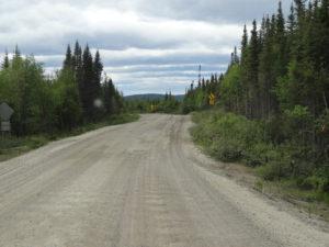 Von Manic cinq bis Labrador City war die Strasse nicht asphaltiert.