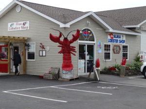 Wir haben auch Lobster gegessen, waren aber davon nicht sehr begeistert